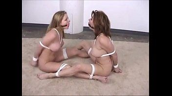 2 angels tied bare in front