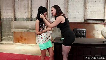 Milf mistress wazoo plugs tiny oriental chick