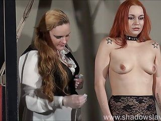 Redhead play piercing serf marys lesbo sm and needle