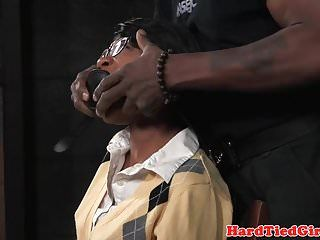 Afro sm sub tiedup and fingered by maledom