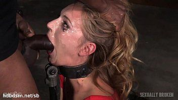 Orgasming gal has her face messed up in saliva whilst deepthroating