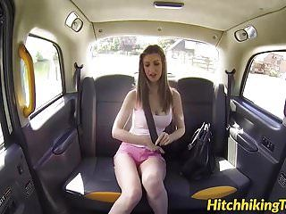 Breasty dark brown stella cox getting pounded by taxi driver