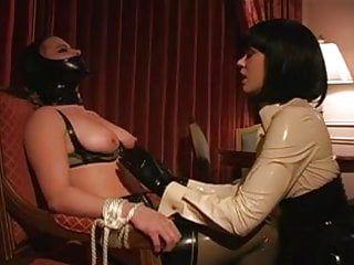 Lesbo sadomasochism latex breast engulf tit engulf lezdom